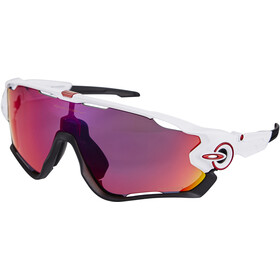 Oakley Jawbreaker Occhiali da sole, prizm road/polished white